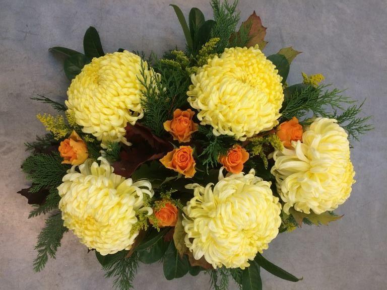 Fleurig snijbloemen arrangement